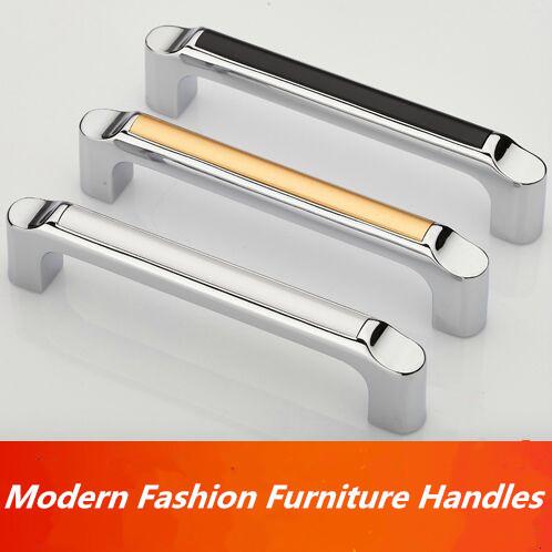 96mm prata brilhante branco cozinha armário roupeiro gaveta puxe móveis handle chrome dresser armário puxar preto