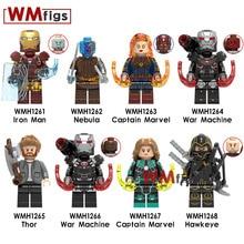 Captain Marvel Avengers Endgame Nebula War Machine Thor Hawkeye Iron Man Legoings Figures Super Hero Movie Building Blocks Toys