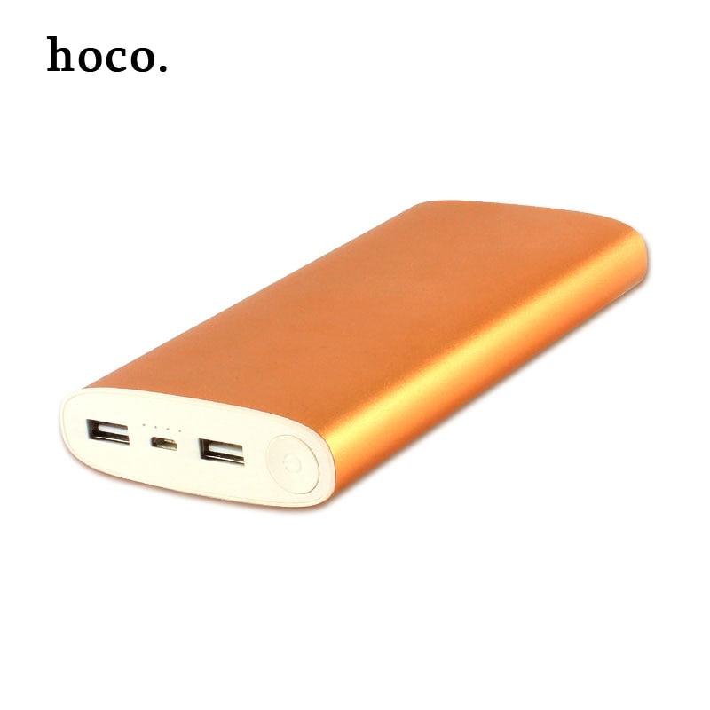 imágenes para Hoco 2017 metal De Alta capacidad Banco de la Energía 16000 mAh Cargador Portátil Paquete externo de La Batería + led light + Dual USB para el teléfono