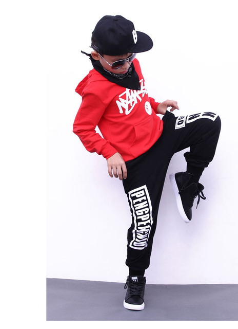 7583cb241dd 2018 New Children Hoodie Sweatshirts + Pant Sets Boys and Girls Street  Dance Clothes Kids Hip Hop Costumes Dance Sport Suits