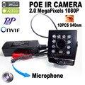 1080 P POE мини ip-камера камера ночного видения 940nm ИК Мини Ip-камера С ИК Скрытой Сети Onvif Миниатюрная poe ip камера