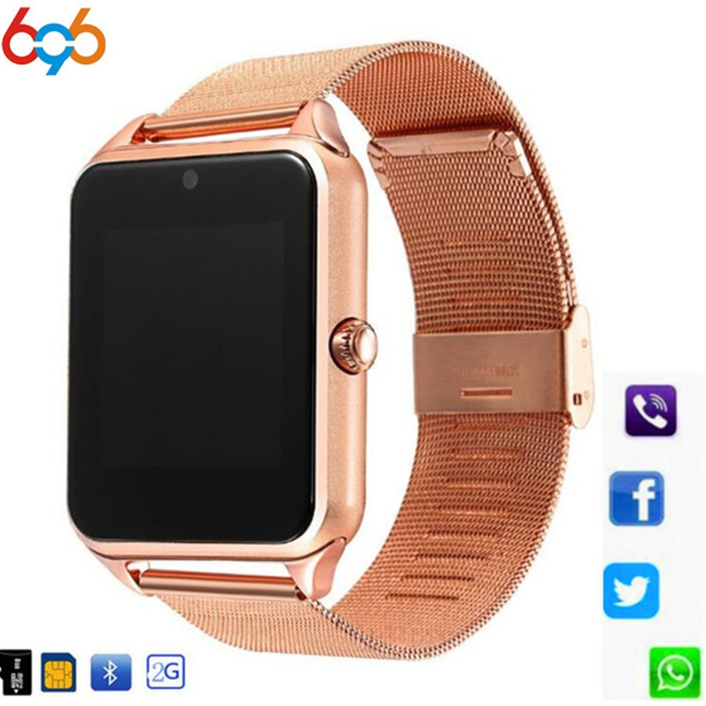 696 Z60 Smart Uhr GT08 Plus Metall Strap Bluetooth Handgelenk Smartwatch Unterstützung Sim TF Karte Android Uhr Multi-sprachen PK Y1 M26