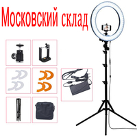 55W 5500K Led Ring Light With Stand Support Mini Ball Head Phone Clip For Photography Studio Selfie Photo Camera video light