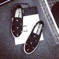 Mickey Zapatos de Lona Planos Zapatos Casuales Pedal Resbalón-en Zapatos Mocasines Blanco Tamaño 35 ~ 40