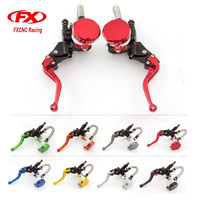 FX Aluminum 7 8 Motorcycle Master Cylinder Brake Hydraulic Brake Clutch Levers Motorcycle Parts For 125