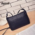 AEQUEEN Shoulder Bag Women Leather Messenger Bags Fashion Check Satchel Casual Crossbody Small Bag