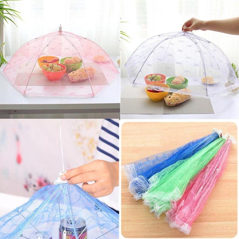Кухонный стол с кружевной сеткой, чехол для экрана, складной зонт, большая крышка для еды