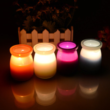 High quality Scented candle romantic wedding birthday candle Smell remover glass cup candle,Free shipping.