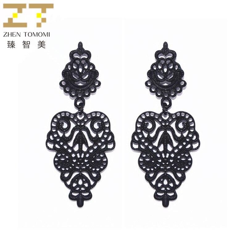 Shuangr Hot Simple Design Long Earrings For Women Top White K Color Bridal Drop Earrings Wedding Jewelry Lange Oorbellen Earrings Drop Earrings