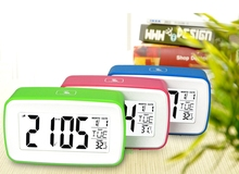 NEW  Large LCD Screen 8in1Smart Touch Sensing Luminous Digital Snooze Recording Voice Desk Alarm Clock With Temperature Hot Sale