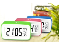NEW Large LCD Screen 8in1Smart Touch Sensing Luminous Digital Snooze Recording Voice Desk Alarm Clock With