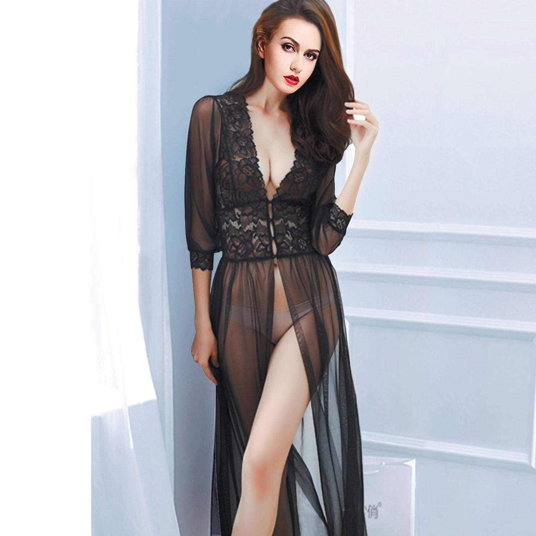 Best Sales Wholesale New Style Women Faux Silk Braces Dress Girls Lace Sleepwear Nightgown Jx0169 Underwear & Sleepwears Women's Sleepwears