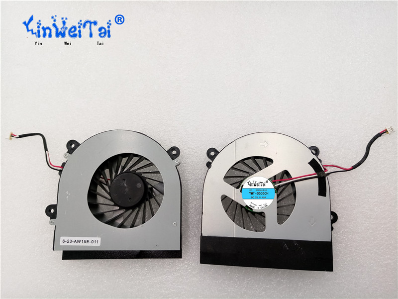 CPU Fan For CLEVO W150 W150ER W350 W350ETQ W370ST W350ET W370ET K590S K660E K650C Fan AB7905HX-DE3 6-31-W370S-101 6-23-AW15E-011 genuine new original cable fit for clevo w370et lcd cable 6 43 w3701 010 k 6 43 w3701 011 k