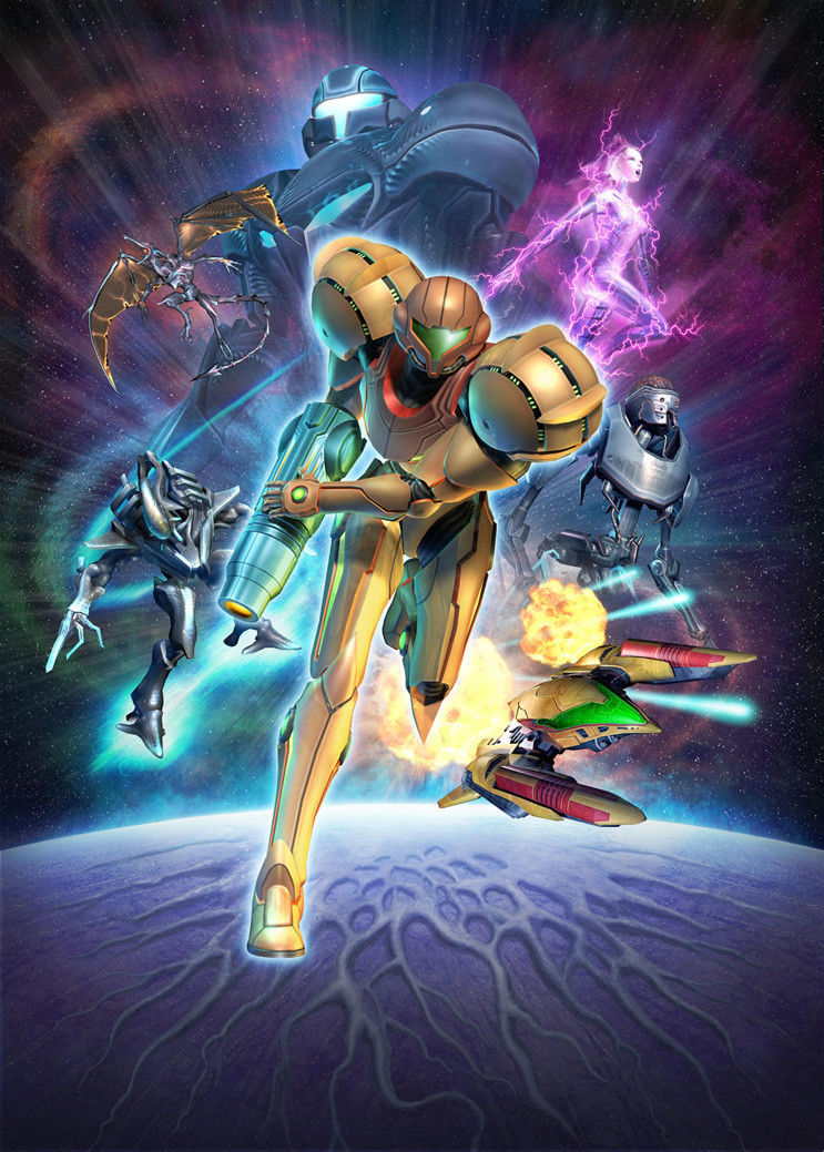 Home Decor Metroid Prime Game 1-Silk Art Poster Wall Sticker Decoration Gift image
