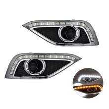 White and Yellow Color Car Front Fog Bumper LED DRL Daytime Running Lights for Honda CR-V 2012 2013 2014(China)