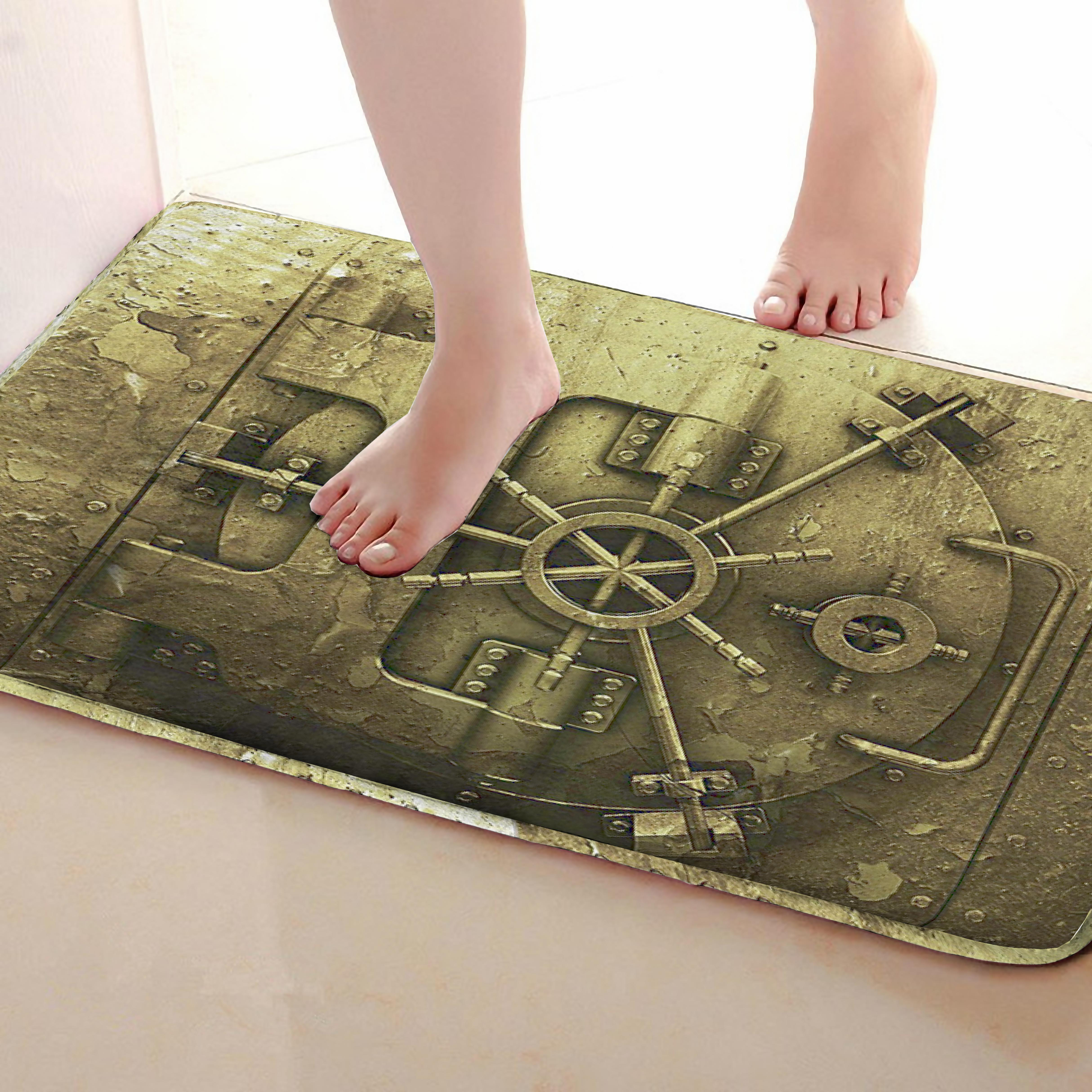 Lock Style Bathroom Mat,Funny Anti Skid Bath Mat,Shower Curtains Accessories,Matching Your Shower Curtain