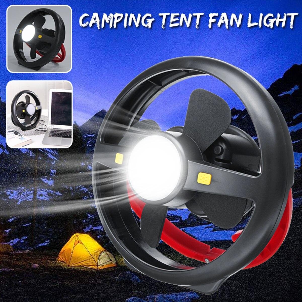 Puissance de secours portative extérieure de lampe de Camping de lumière de ventilateur de tente accrochante d'usb? banque pour camper la pêche extérieure