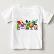 Happy Tree Friends babys boy and girl T shirt children summer Pure cotton breathable - white kids T-shirt MJ