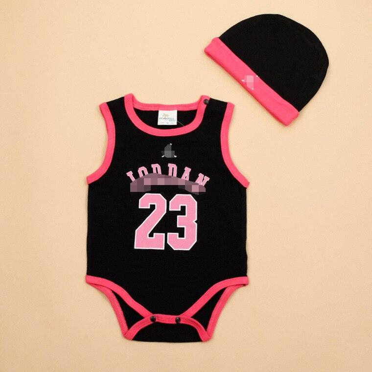 913a1509 2016 Summer Newborn Baby Child Toddler Girl Boy Infants Jordan 23 Jordans  11 12 One Piece Bodysuits With Hat M016253-in Bodysuits from Mother & Kids  on ...