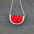 Adorável algodão Tecido Mulheres bolsas saco de melancia frutas saco de crianças sacos de ombro macio encantador dos desenhos animados sacos crossbody