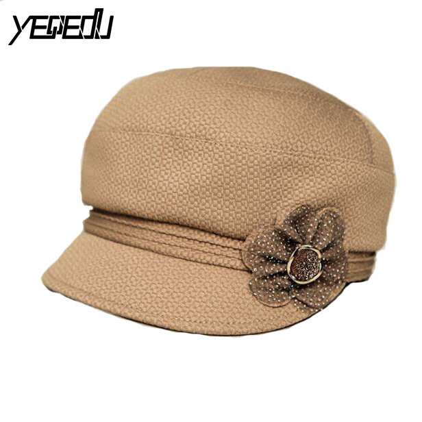 #3223 2017 Spring Autumn Touca feminina Hats for women Fashion Middle aged beanie Casquette homme Bonnet Bones masculino  magnit rmc 3223