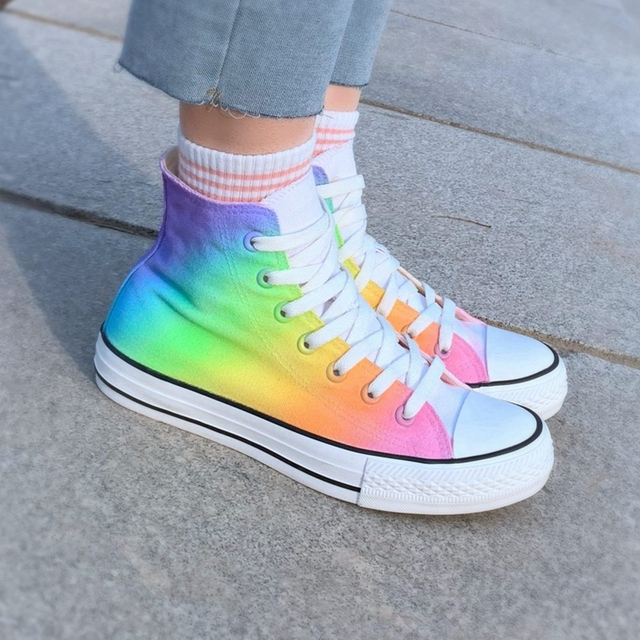 Women's Rainbow Casual Canvas Shoes
