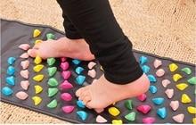 Medialbranch Colorful Plastic Foot Massager Pad Acupuncture Cobblestone Yoga Mat Massage Cushion Padding Elderly Fitness 3 Sizes цена
