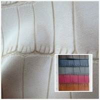 Serpentine Style Toughness Faux Leather Fabric Semi PU Synthetic Leather 18 Colors Textile Fabric Soft For
