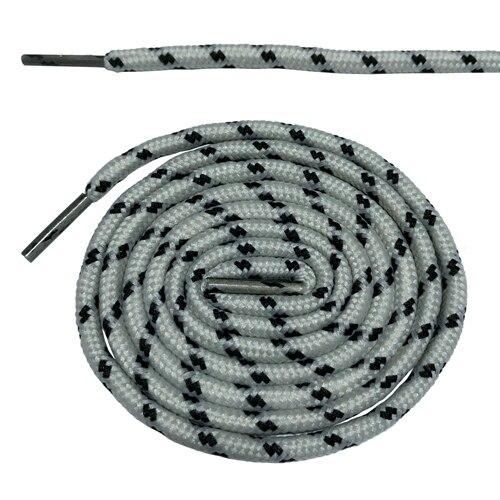 Круглые ботильоны без шнурков шнурки с точками 10 цветов 180 см/70,5 дюйма - Цвет: light gray and black