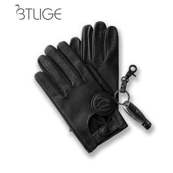BTLIGE Mens Classic Driving Gloves Soft Genuine Real Lambskin Leather New Screen Mittens Clothing Accessories Dropship
