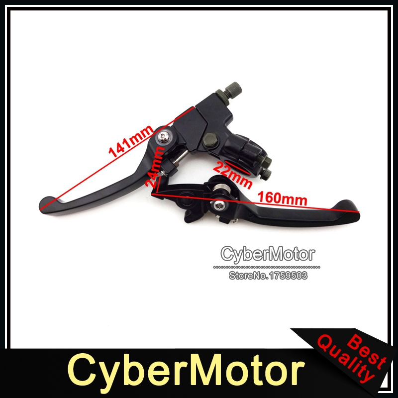 Alloy Motorcycle Folding Brake Clutch Levers For 50cc 90 110cc 125cc 150cc 160cc CRF50 KLX TTR Lifan SSR Thumpstar Pit Dirt Bike rear foot brake master cylinder pump 50cc 70cc 90cc 110cc 125cc 150cc 200cc 250cc dio monkey bike dirt pit bike new