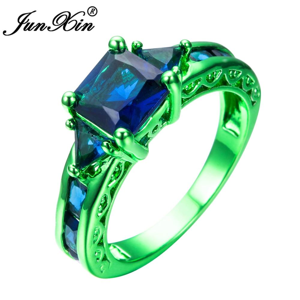 Junxin Male Female Blue Geometric Ring Green Gold Filled. Anne Green Gables Wedding Rings. 100000 Dollar Engagement Rings. Aurora Engagement Rings. Lotus Engagement Rings. Message Wedding Rings. Celebrity Rings. Style Engagement Rings. Walking Liberty Rings