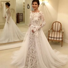 Radia May Long Sleeves Wedding Dress with Dress