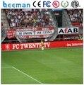 Leemanled ao ar livre smd outdoor publicidade led display perímetro estádio de futebol levou tela