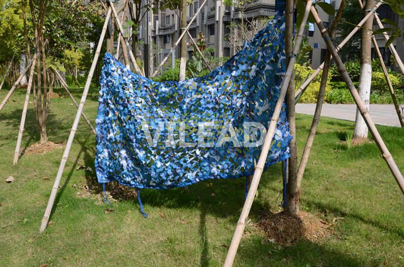 VILEAD 3.5x10M Camo Compensação Azul Rede De Camuflagem Camo Tarp Para Pérgulas de Compensação Compensação Sol Abrigo Gazebo Telhado decoração