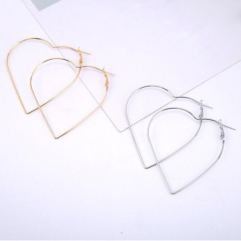 Модные тонкие из изысканный уникальный LNRRABC в форме сердца полые серьги простой серебристый Золотые украшения Кольца разделе аксессуары