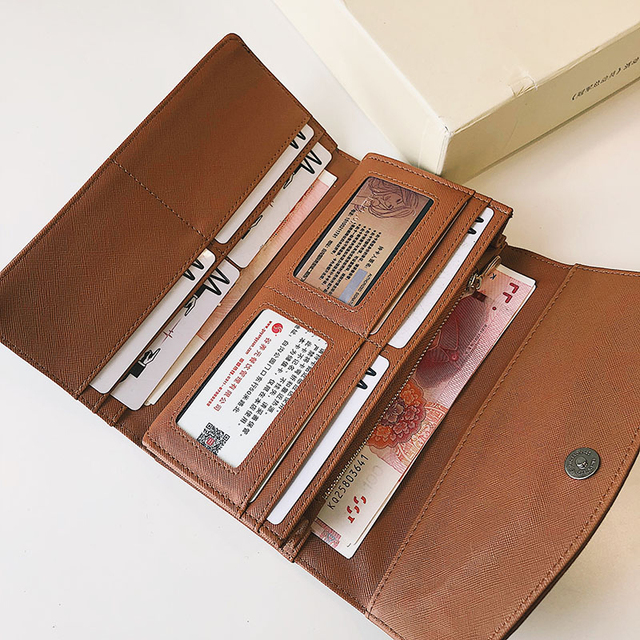 Trifold Long PU Leather Clutch 5