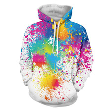 2017 Graffit Autumn Hoody Hoodies Men/women 3D Sweatshirts With Cap Print Couple Shirt Casual Hooded Hoodies Plus S-3XL T3660