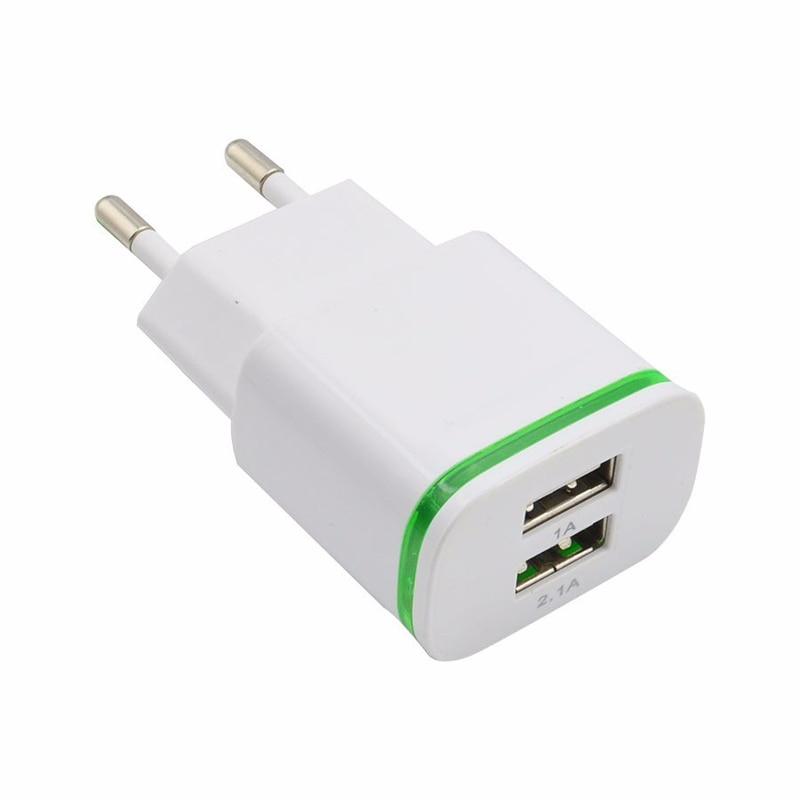 GEUMXL Dual USB EU Plug Travel Charger 3F Type C USB Cable for - Ανταλλακτικά και αξεσουάρ κινητών τηλεφώνων - Φωτογραφία 2