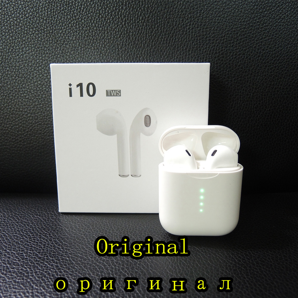 Original i10 TWS bluetooth earphones Mini Wireless Touch control Earphone Earbuds Built in Mic Charging box
