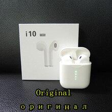 Оригинальные наушники i10 TWS bluetooth, мини беспроводные наушники с сенсорным управлением, наушники, встроенный микрофон, зарядная коробка PK i200 i60 i30 TWS