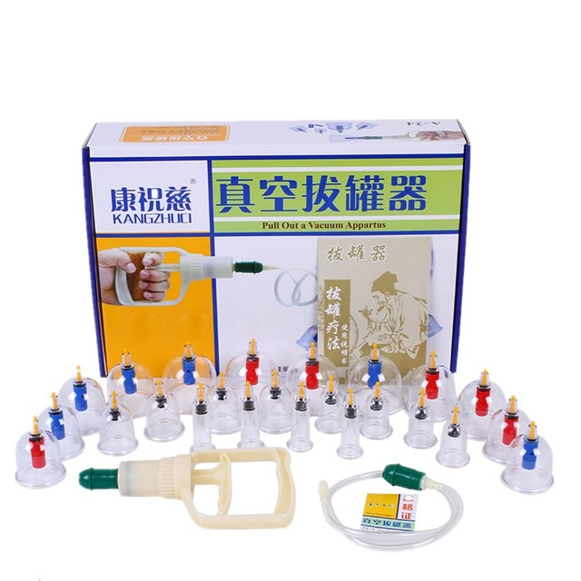 32/24 Cans Massage Vacuum Cupping Set Thicker Magnetic Aspirating Cupping Cans Acupuncture Suction Cup Chinese Massage Kit 1