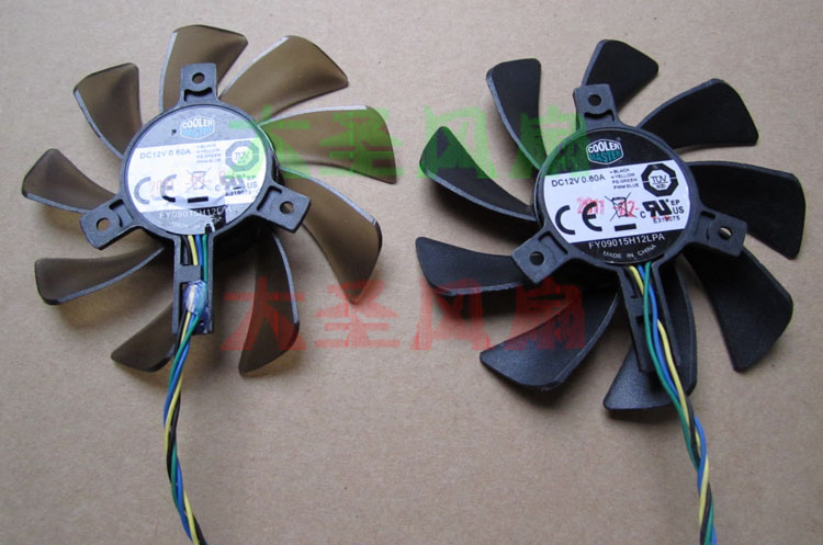 FY09015H12LPA 0.6A DC12V 4wire 4pin diameter 85mm for Onda / Unika / Rainbow / GTX460 560 graphics card cooling fan
