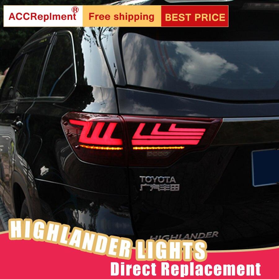 Car Styling LED Tail Lamp for Toyota Highlander Tail Lights for Highlander Rear Light DRL Turn