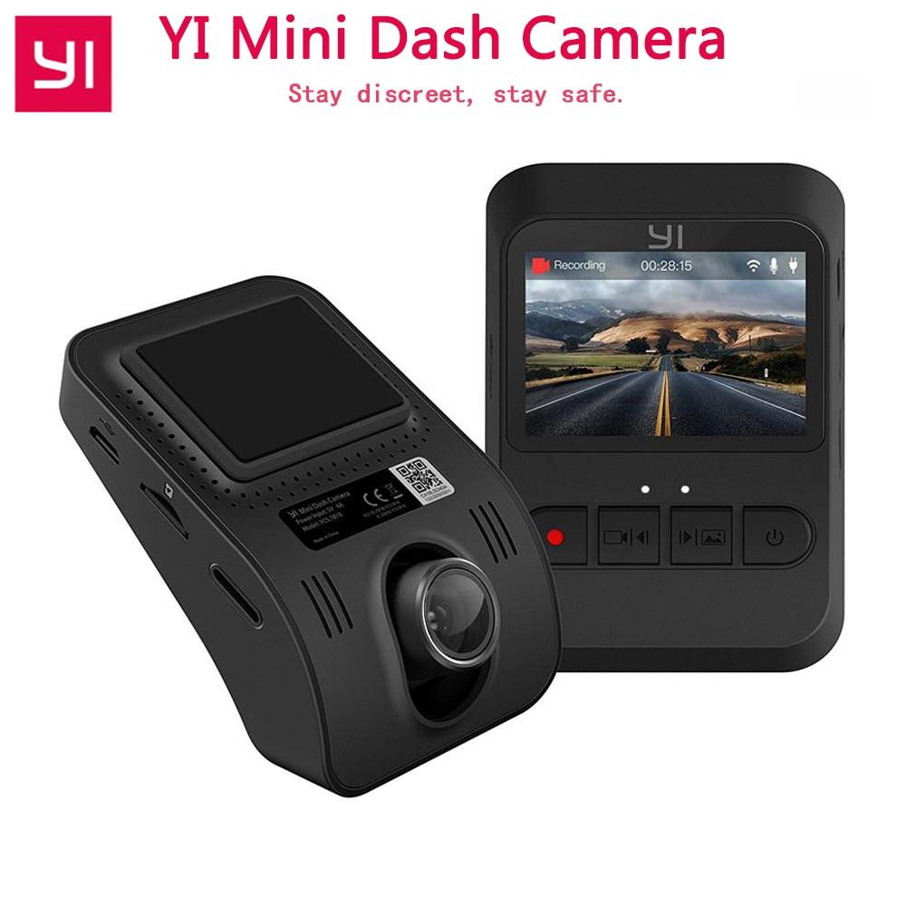 International Version YI Mini DashCam WiFi Night Vision HD 1080P Built-in Large Aperture 2.0 TFT LCD Screen G-Sensor Camera