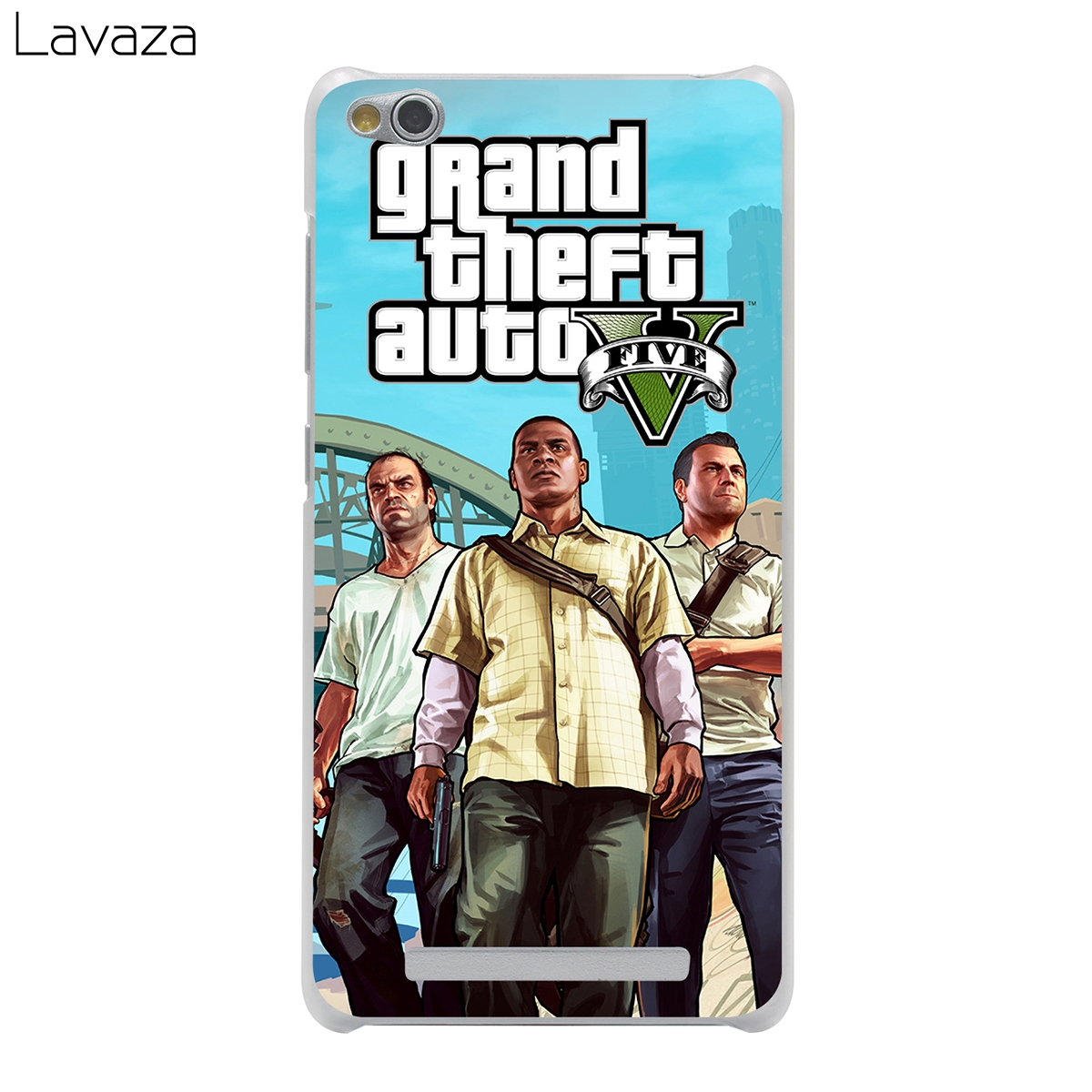 Lavaza Grand Theft Auto GTA V Cover Case for Xiaomi Redmi Note Mi 3 3S 4X 4 4A A1 5 5A 5S 5X MI5 MI6 Pro Plus