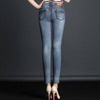 MUM Gloria Boyfriend Denim Vintage Jeans Womens Feminino 2NS001 004 Pants Female Tassel Autumn Ankle Length Slim Trouser Zipper