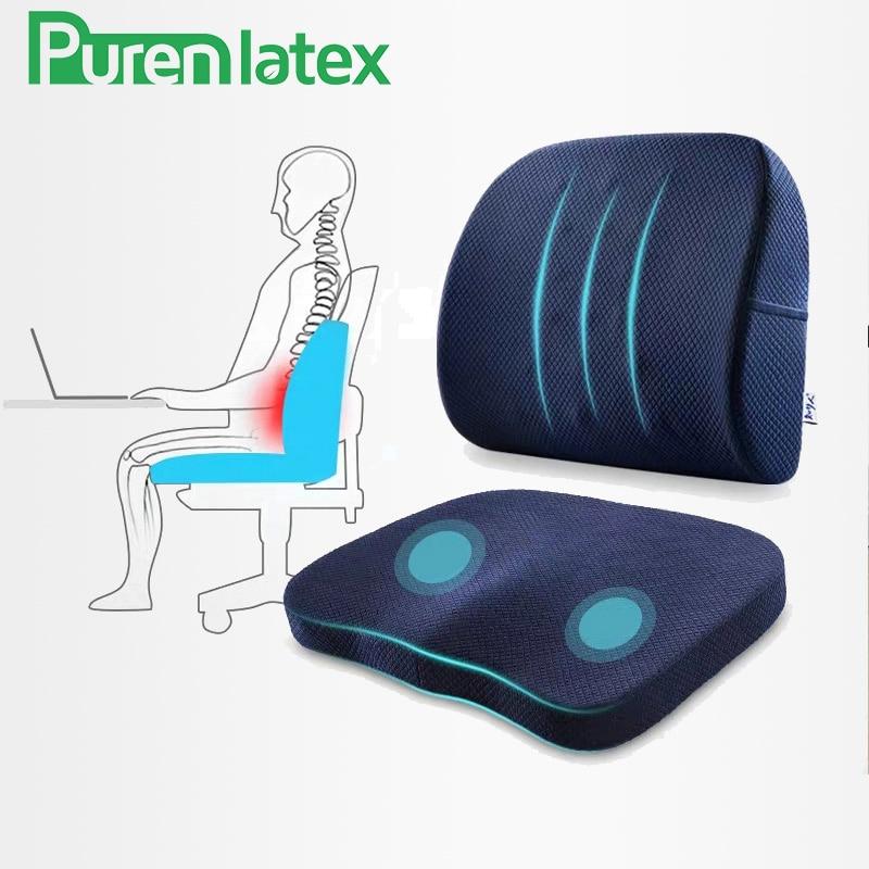 Memory Foam Pillow Set Spine Coccyx