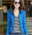 European hot sell new winter fashion women clothing elegant hooded long-sleeved more pure color warm brand coat  D-0119