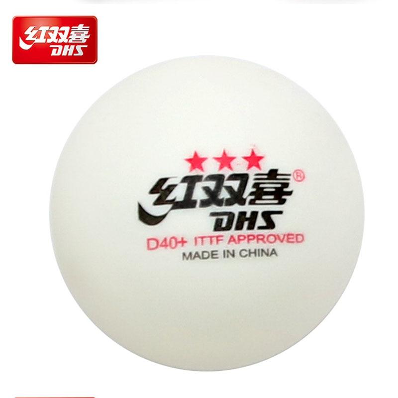DHS 3-Star D40+ Table Tennis Balls (3 Star, New Material 3-Star Seamed ABS Balls) Plastic Poly Ping Pong Balls 2